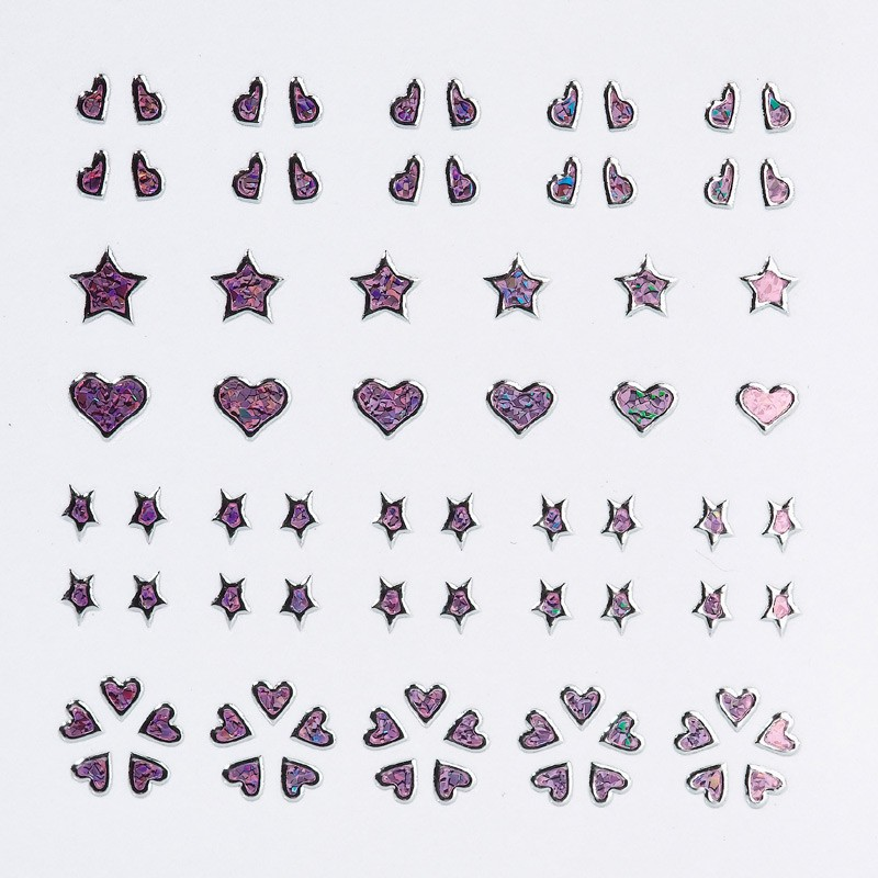 NAIL ART STICKER 3D GLAMOUR HEART