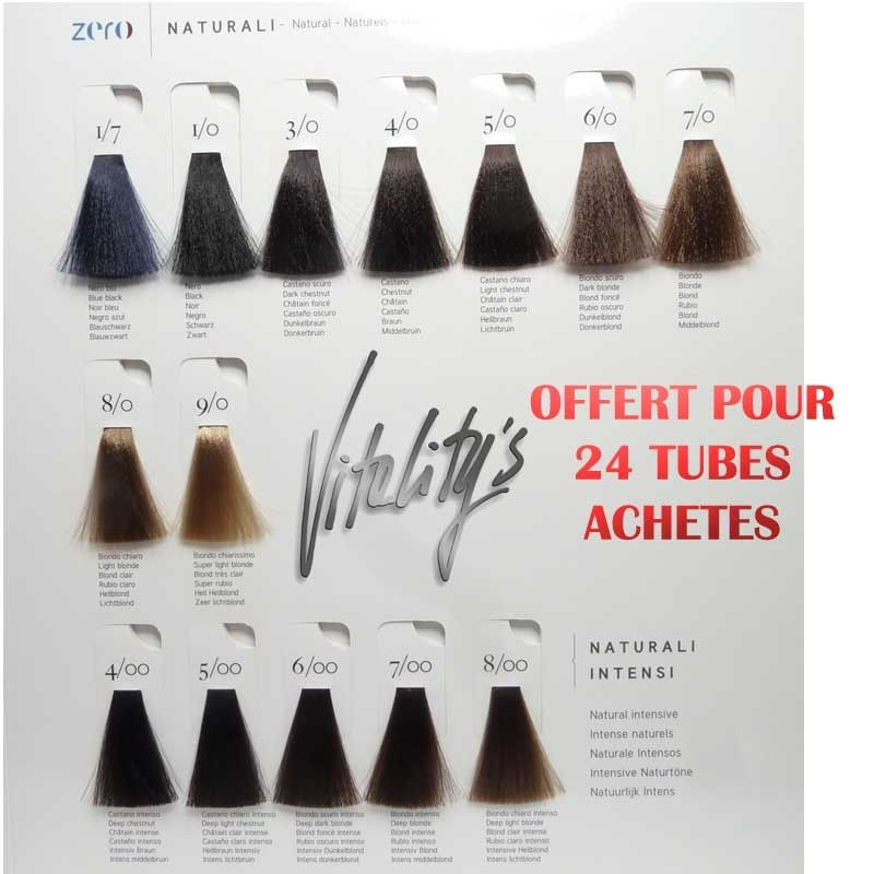 zero nuancier offert pour 24 tubes - Coloration Wella Nuancier